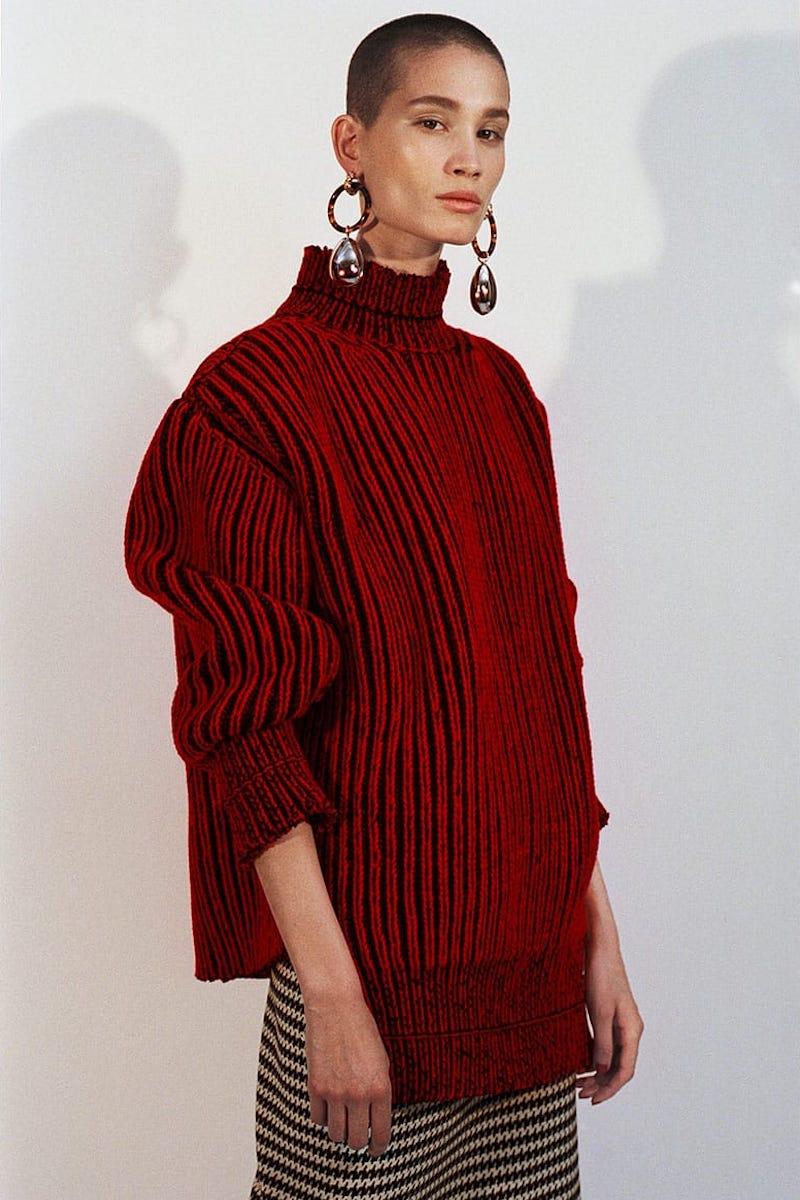 Balenciaga Cable-Knit Virgin Wool Sweater