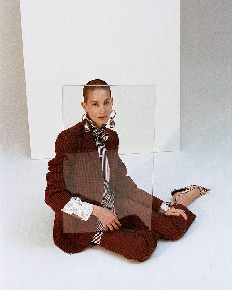 Balenciaga Single-Breasted Checked Wool Jacket