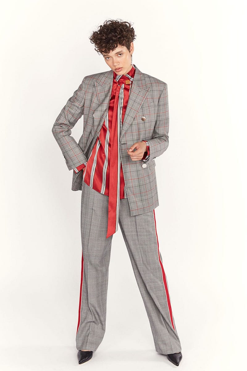 CALVIN KLEIN 205W39NYC Wall Street Prince of Wales-Checked Wool Jacket