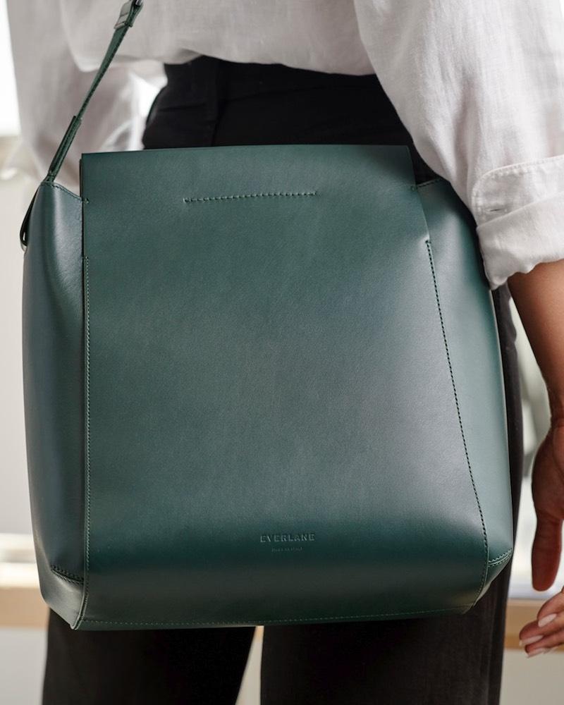 Everlane Form Bag in Dark Green