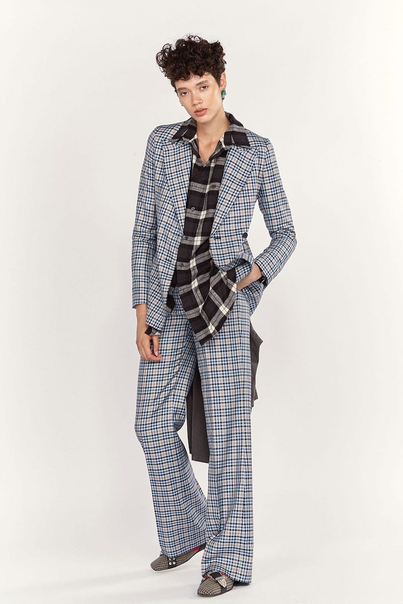 Gabriela Hearst Angela Checked Silk and Wool-Blend Blazer