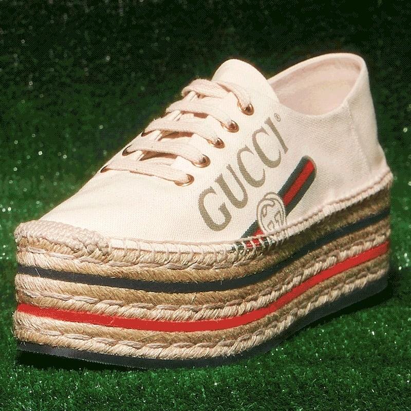 Gucci Canvas Platform Espadrille Sneakers