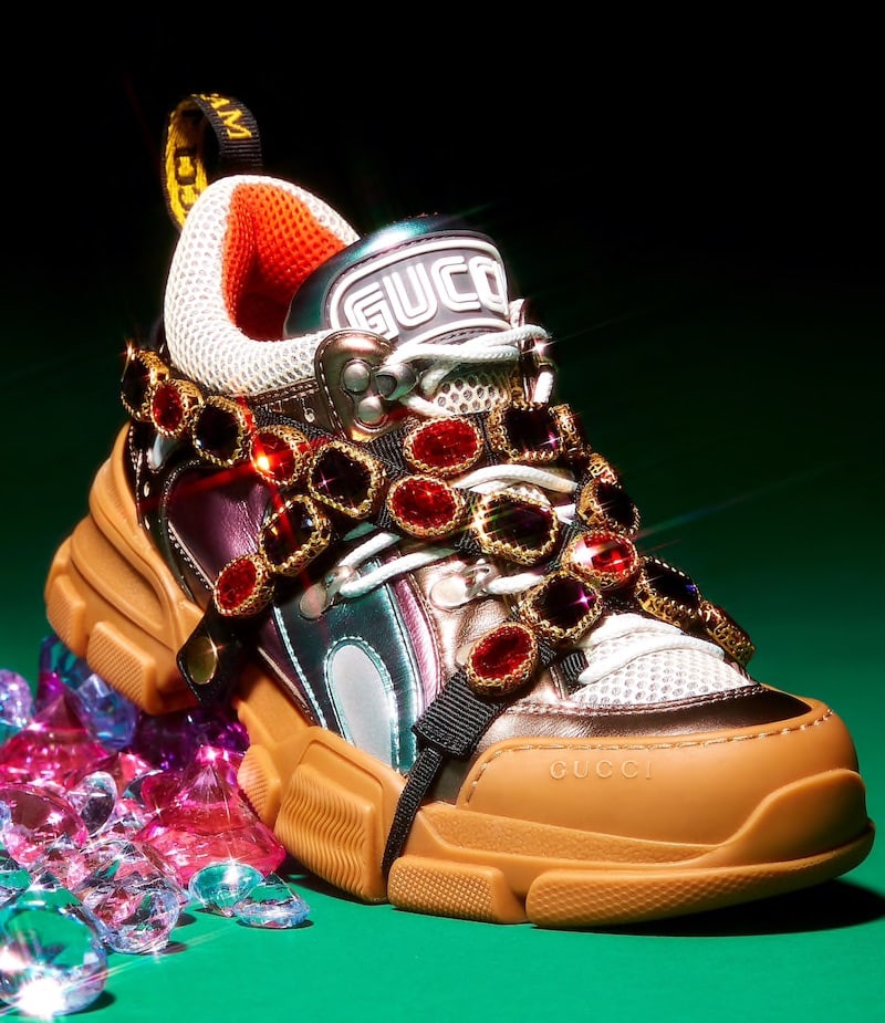 Gucci Jeweled-Strap Sneakers