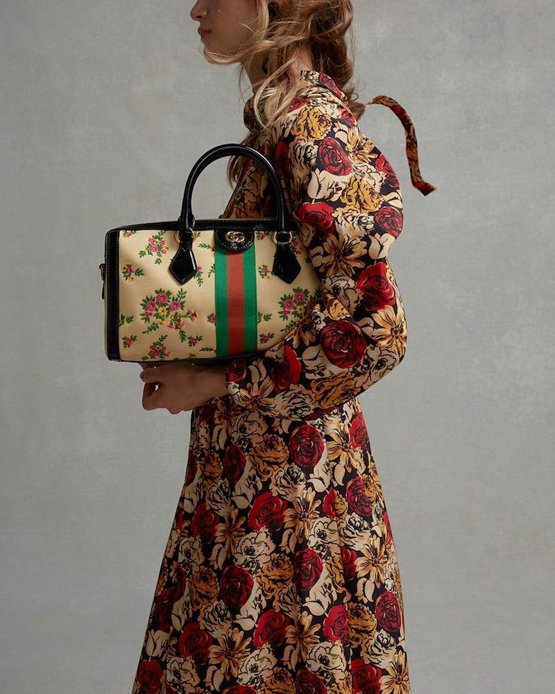 Gucci Ophidia Boston Nylon Bowling Bag