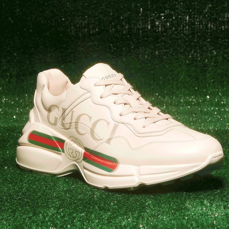 Gucci Women's Rhyton Leather Sneakers
