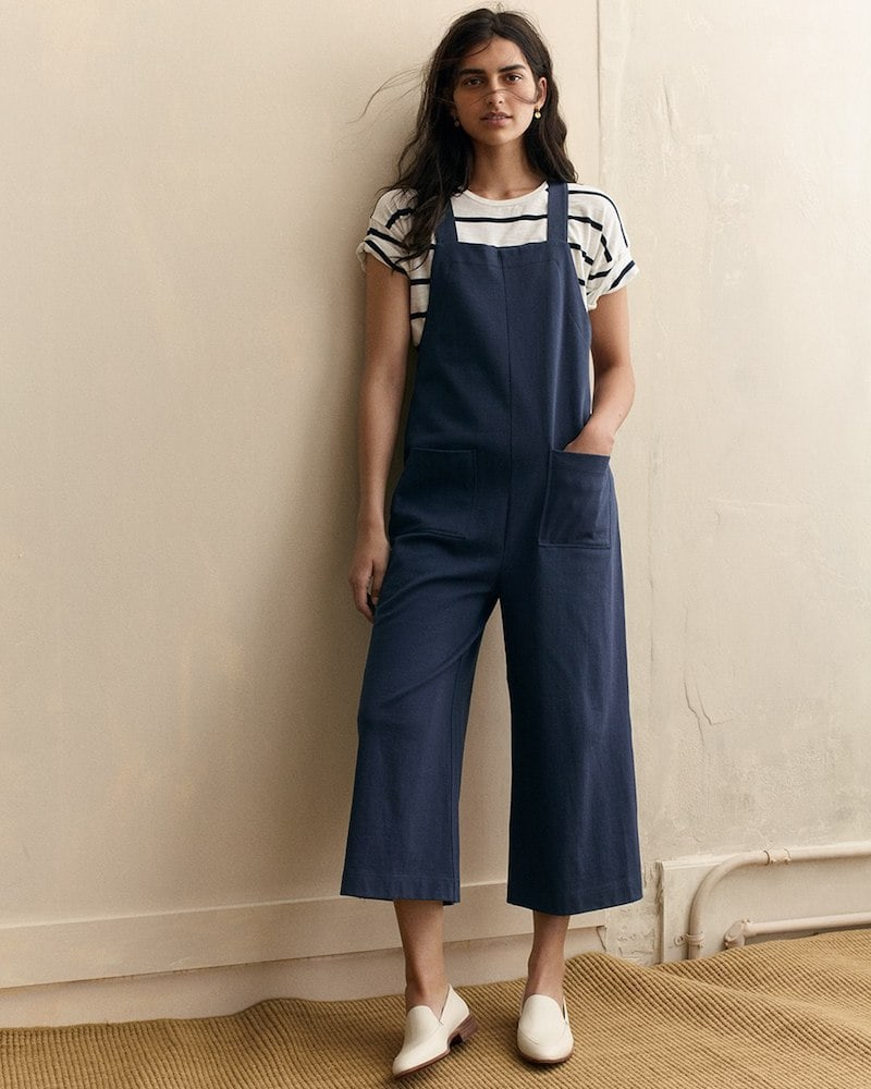 Madewell Knit Patch-Pocket Overalls