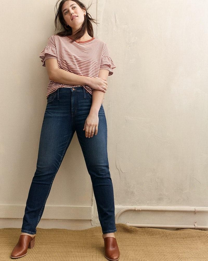 Madewell Slim Straight Jeans in Hammond Wash