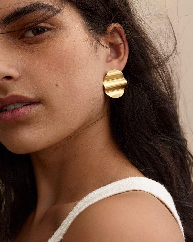 Madewell Waves Disc Earrings