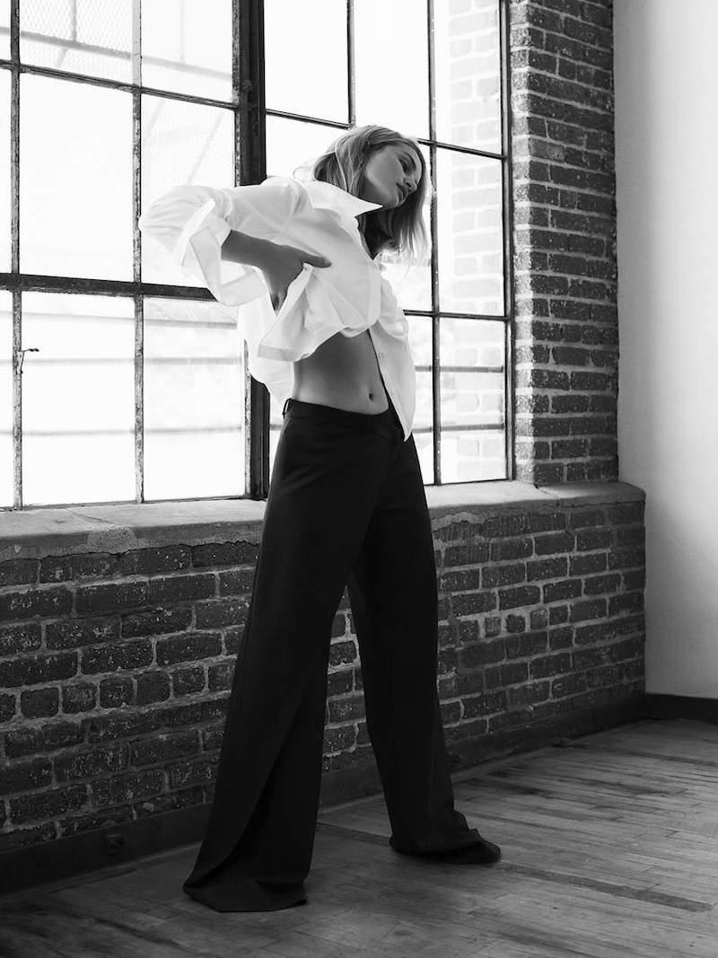 Monse Asymmetric Stretch-Cotton Poplin Shirt