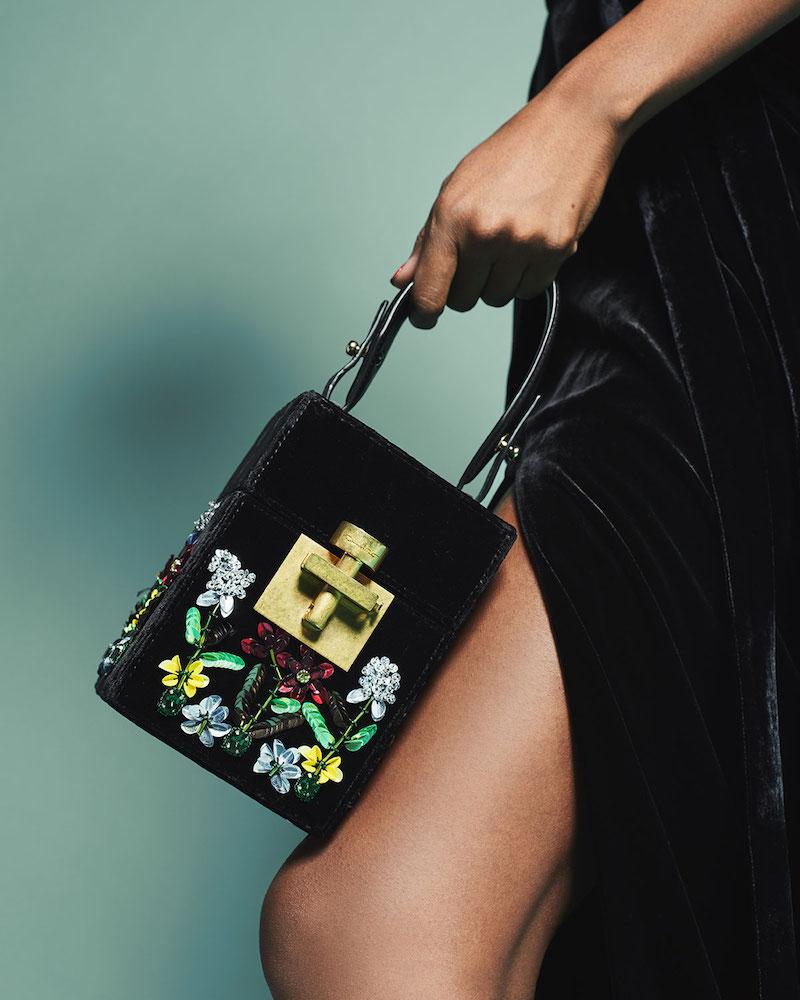 Oscar de la Renta Albi Mini Box Top-Handle Bag