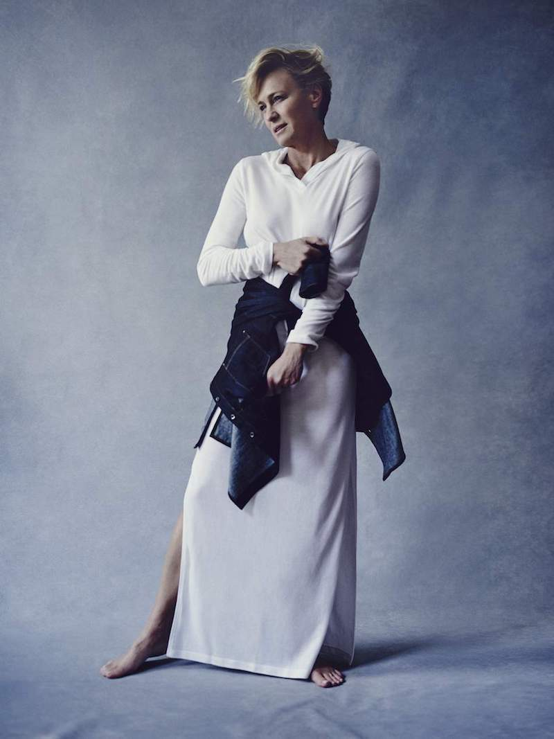 Pour Les Femmes Hooded Terry Maxi Dress