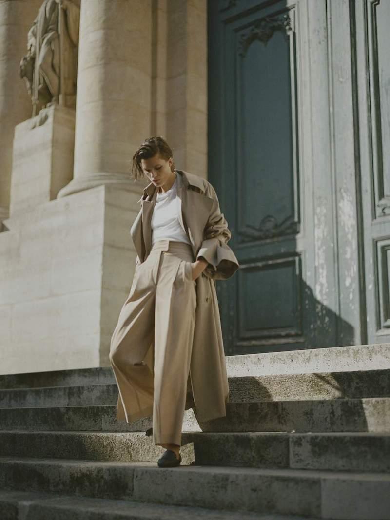 Rokh Oversized Cotton-Gabardine Trench Coat