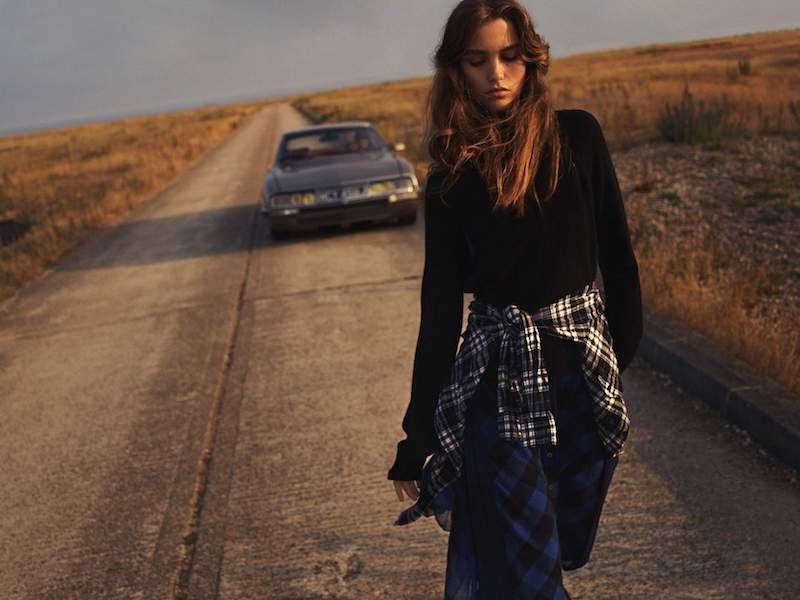 Sacai Chiffon-Trimmed Wool And Checked Cotton Turtleneck Midi Dress