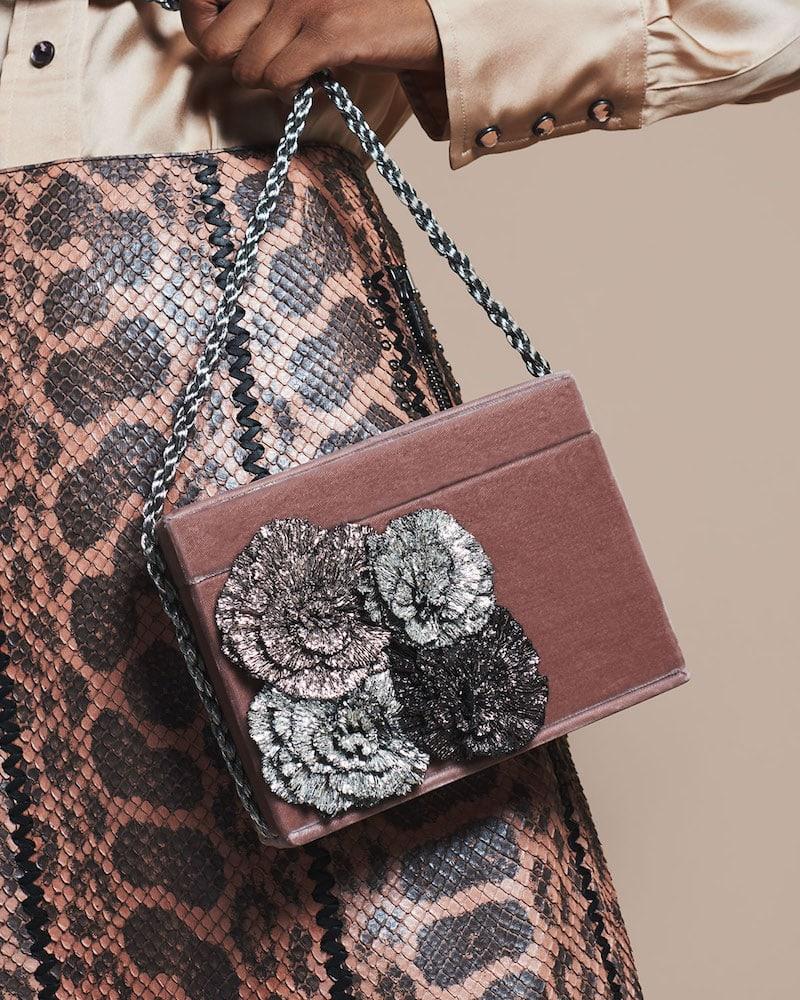 Sanayi313 Stelles Sequin Velour Shoulder Bag