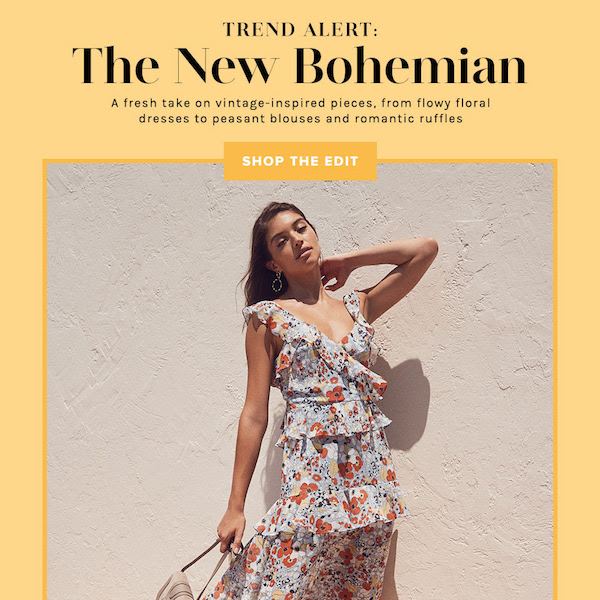 TREND ALERT // Summer 2018 The New Bohemian