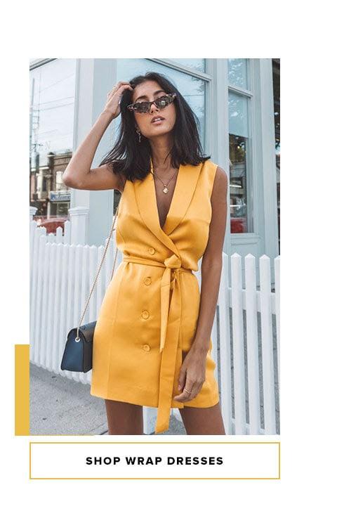 Shop Wrap Dresses