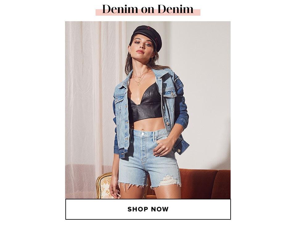 Denim on denim. Shop now.