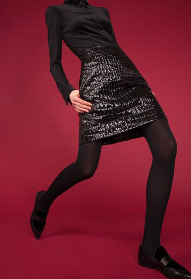 Akris punto Crocodile-Embossed Patent Leather Pencil Skirt