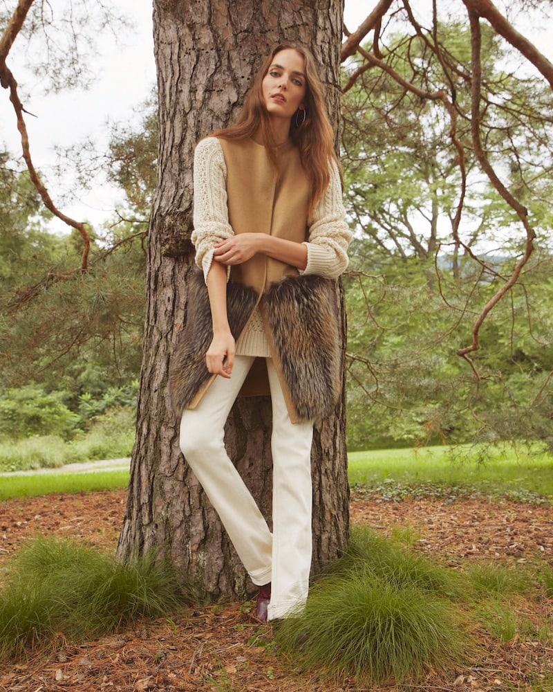 Barneys New York Fur-Trimmed Wool-Cashmere Vest