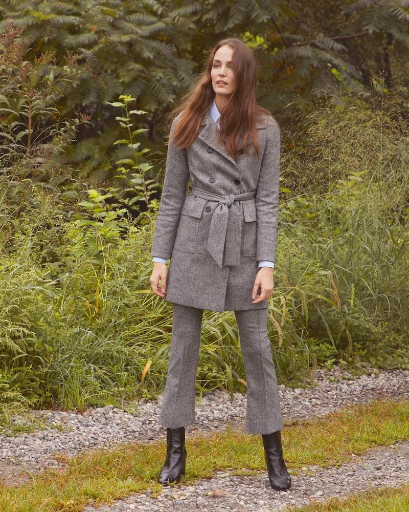 Barneys New York Herringbone Trench Coat