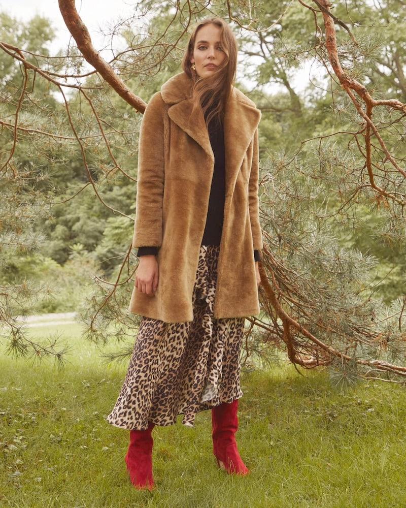 Barneys New York Lamb Fur Coat
