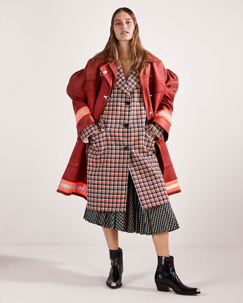 CALVIN KLEIN 205W39NYC Bedford Checked Wool Coat
