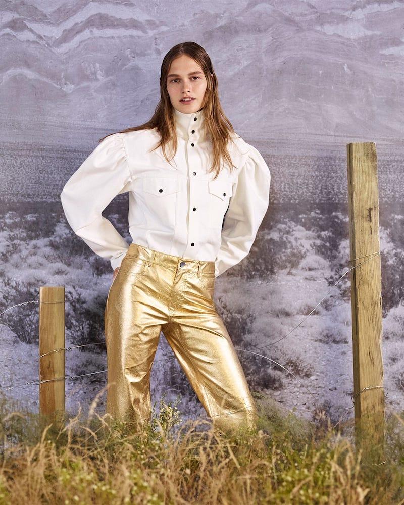 CALVIN KLEIN 205W39NYC Puff-Sleeve Denim Jacket
