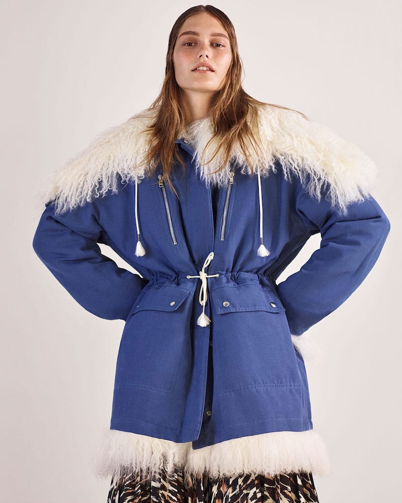 CALVIN KLEIN 205W39NYC Reversible Cotton and Shearling Parka