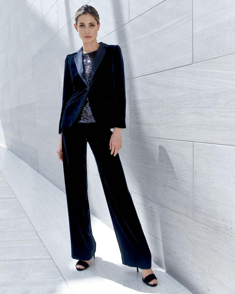 Emporio Armani One-Button Classic Velvet Tuxedo Jacket