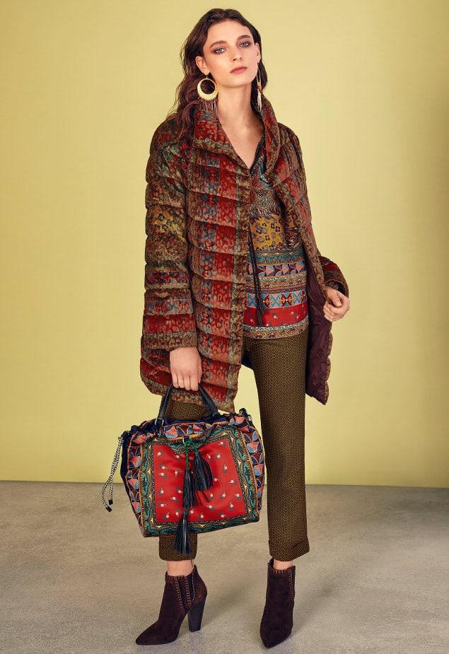 Etro Reversible Paisley-Jacquard Velvet Quilted Mid-Length Puffer Coat