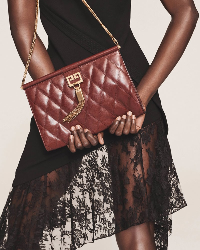Givenchy Gem Medium Leather Shoulder Bag