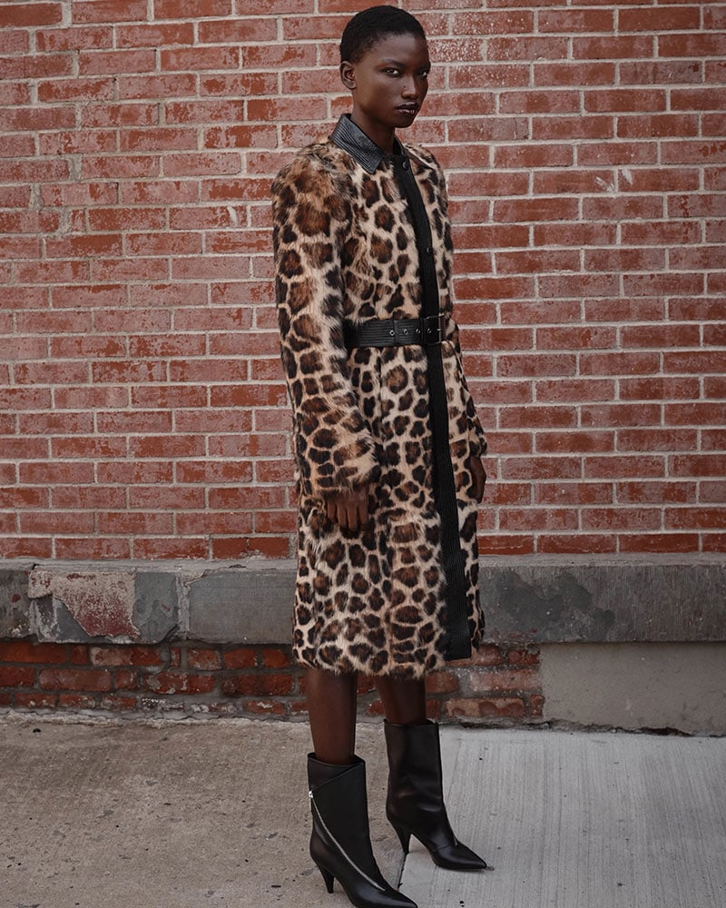 Givenchy Leopard-Print Shearling Long Coat