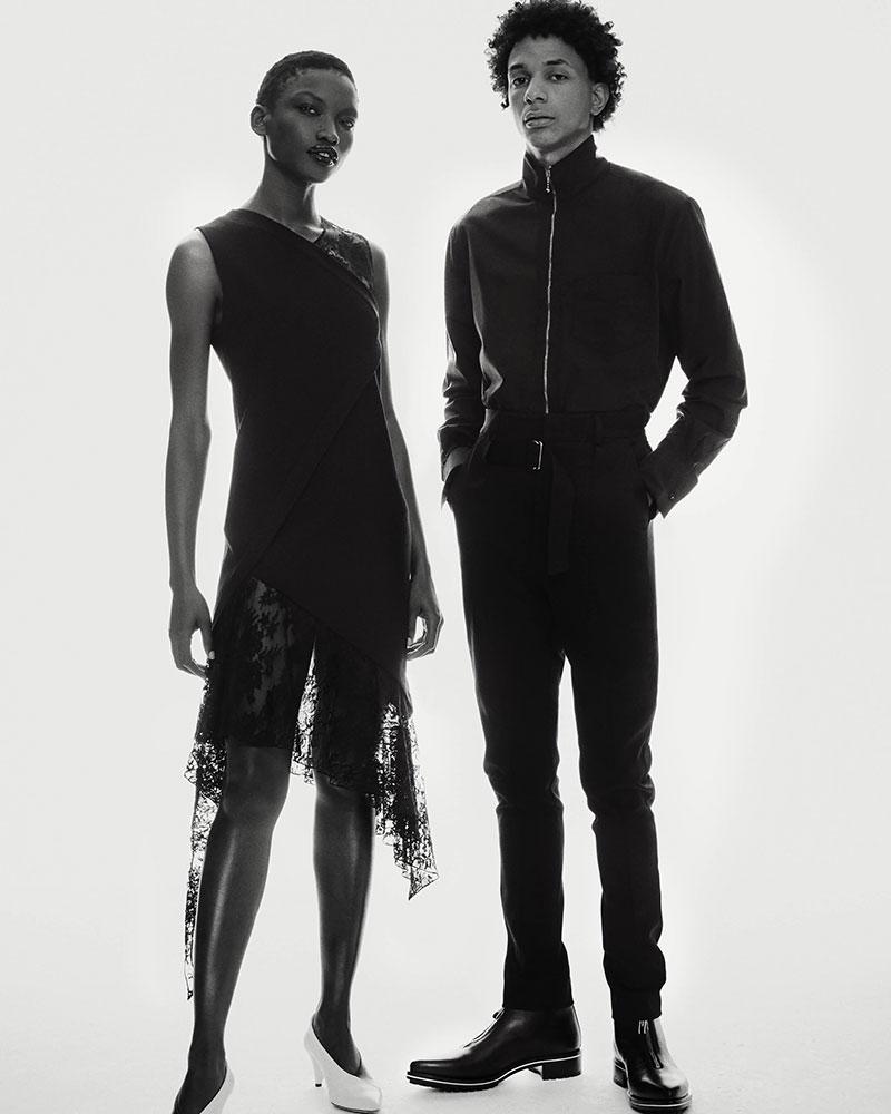Givenchy Mixed-Media Wool Midi-Dress