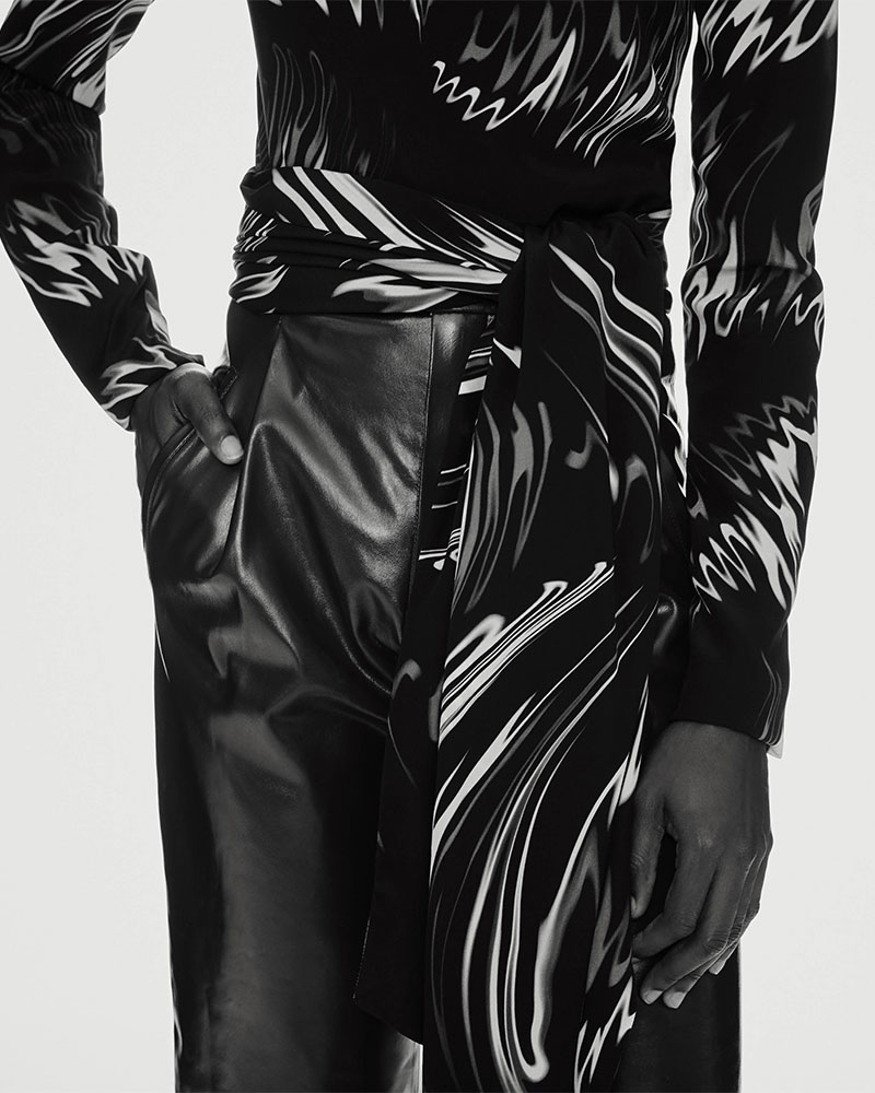 Givenchy Patent Leather High-Waist Pants