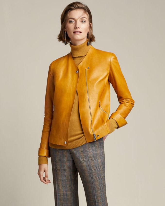 Lafayette 148 New York Devlin Weightless Lambskin Leather Jacket