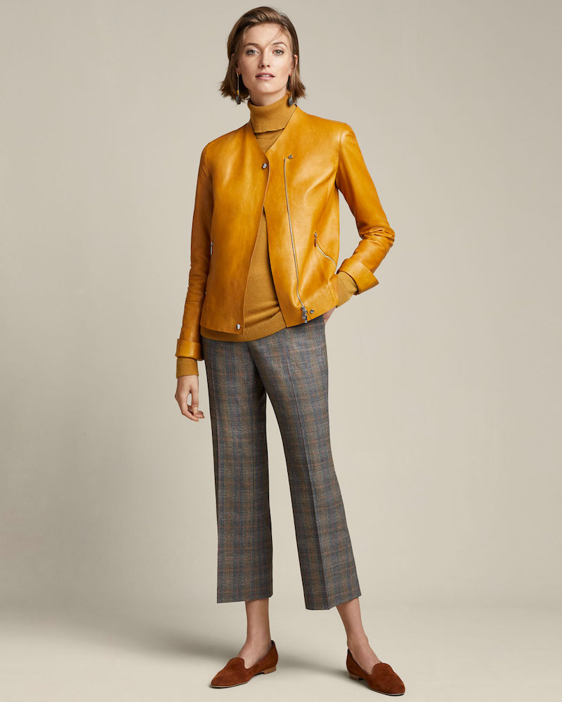 Lafayette 148 New York Manhattan Plaid Cropped Flare Pants