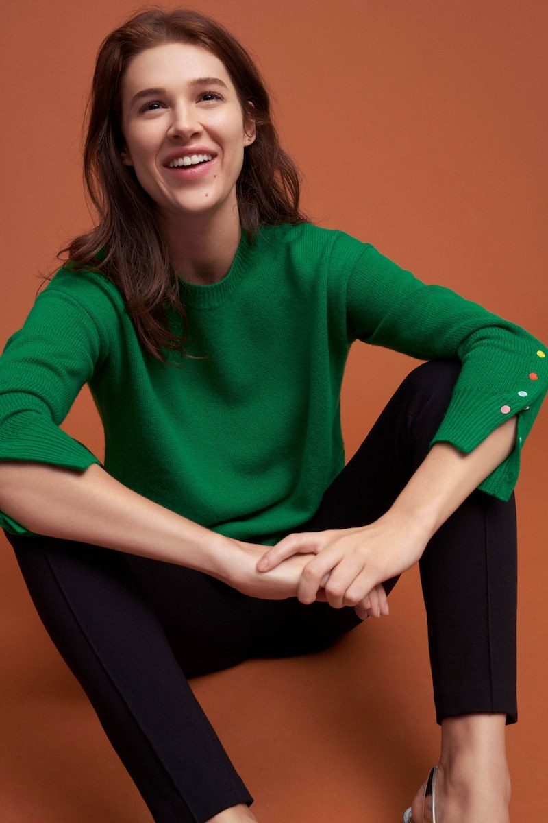 Lisa Perry Cashmere Crewneck Sweater