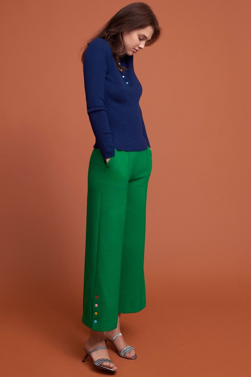 Lisa Perry Crop Wide-Leg Trousers