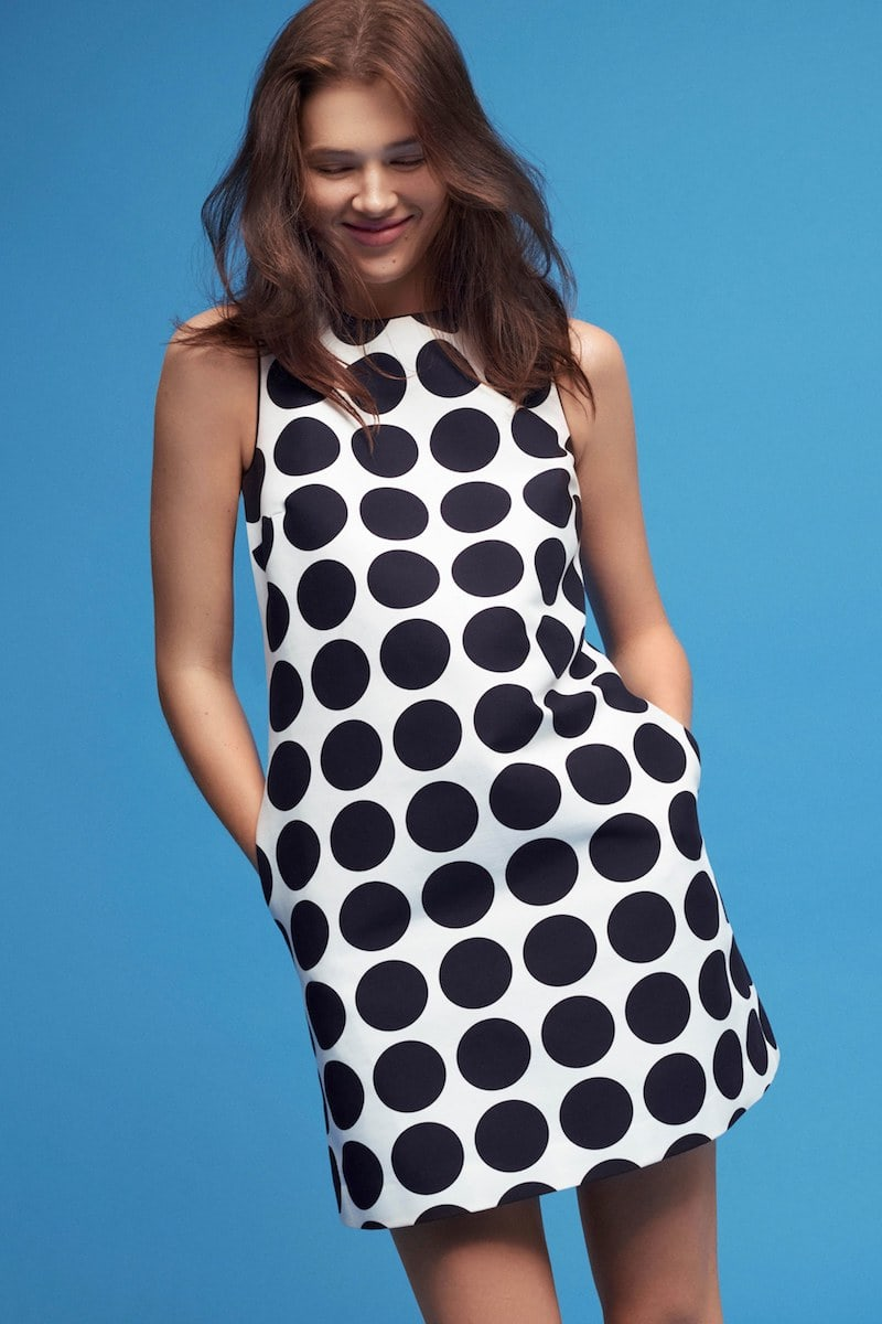 Lisa Perry Dot-Print Cotton A-Line Dress