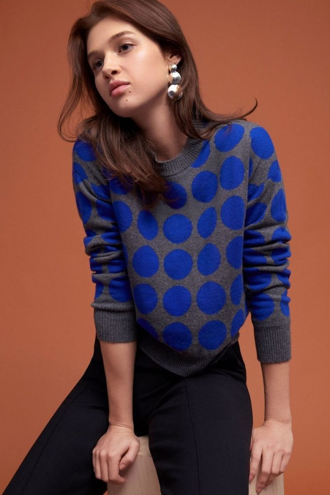 Lisa Perry Dot-Print Sweater