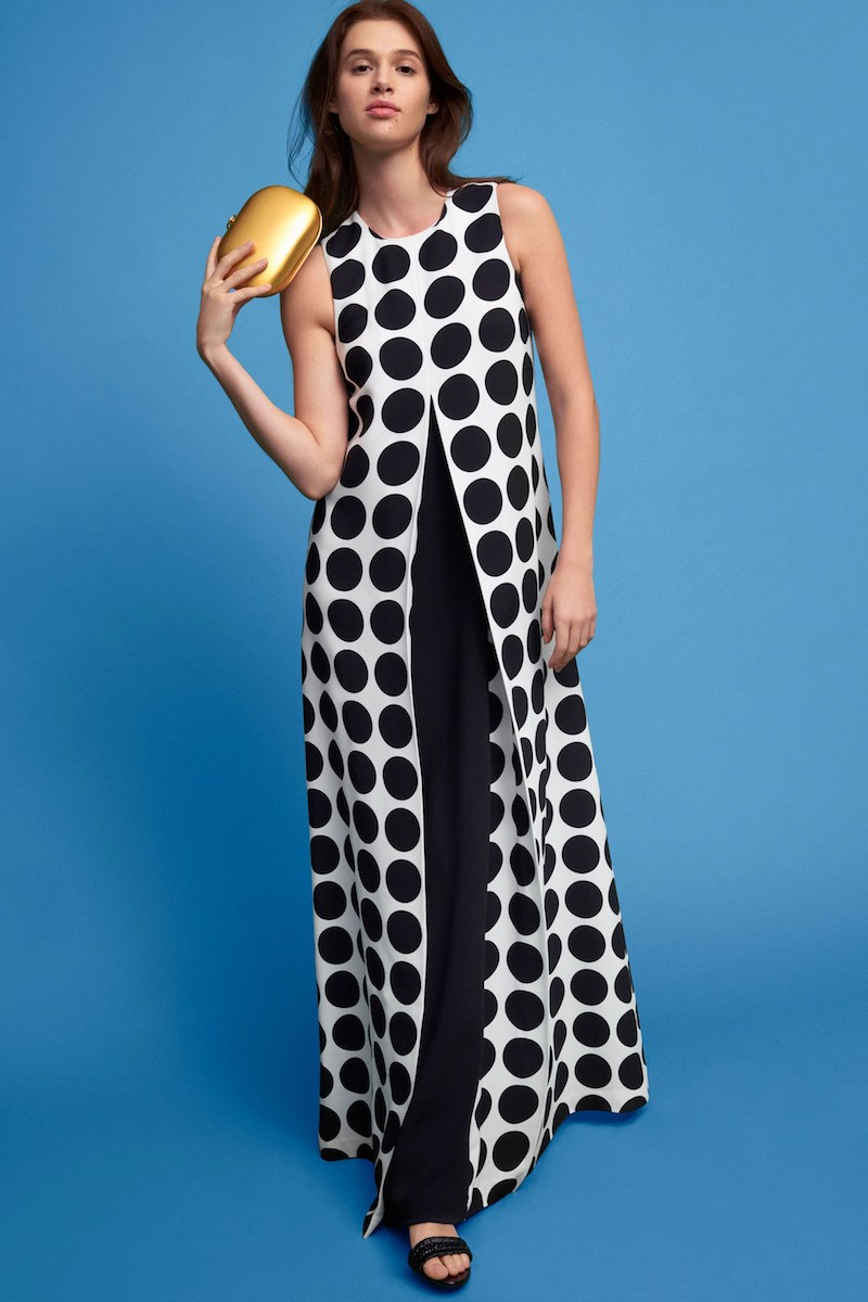 Lisa Perry Dotted Crepe Gown