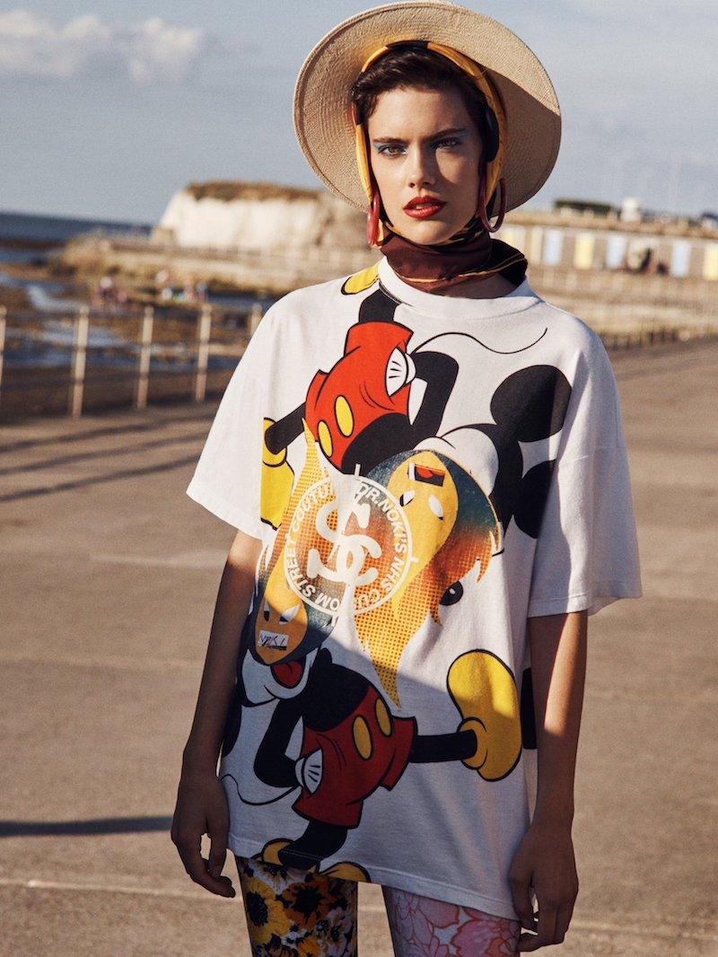 Noki Mickey Mouse-Print Cotton-Jersey Bandana T-Shirt