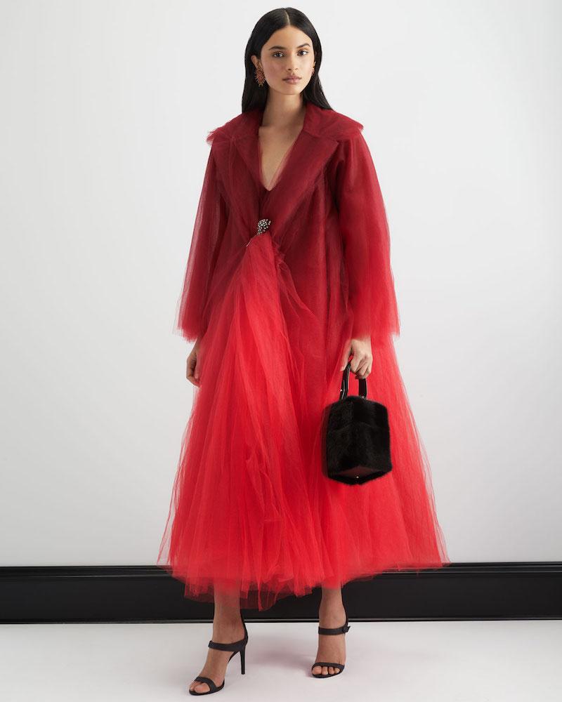 Oscar de la Renta Dip-Dye Tulle Coat