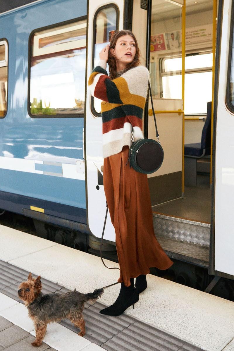& Other Stories Satin Wrap Maxi Skirt