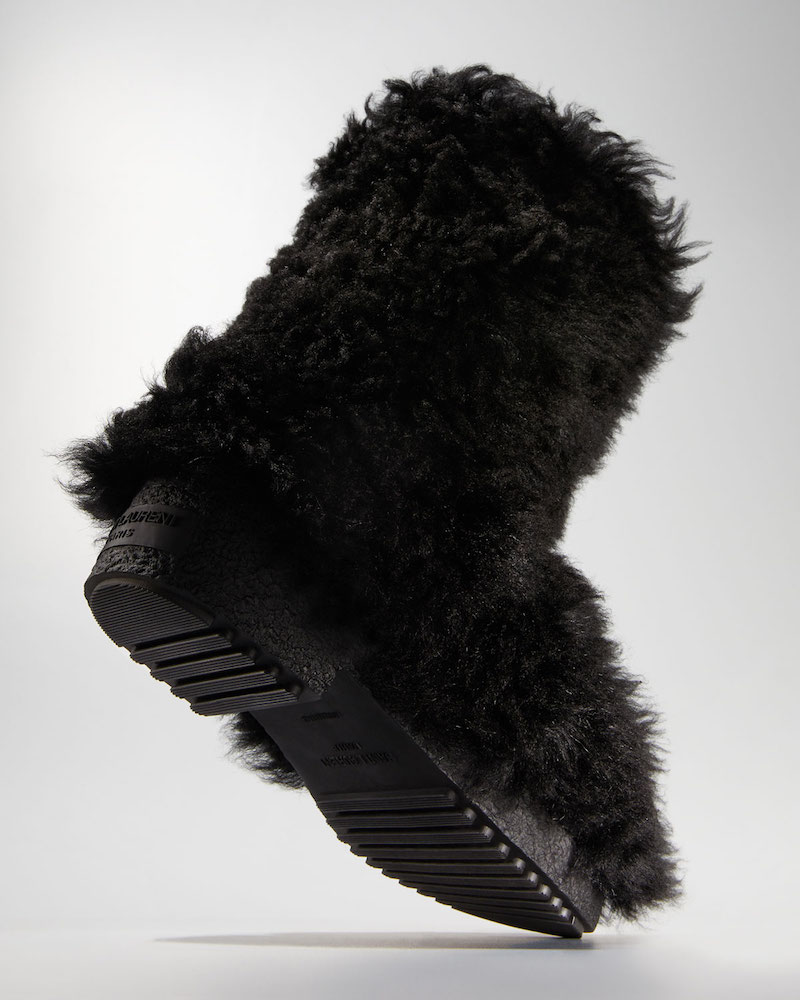 Saint Laurent Furry Lugged Booties