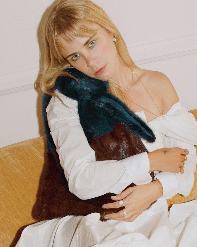 Simonetta Ravizza Furrissima Colorblock Mink Fur Sac Tote Bag