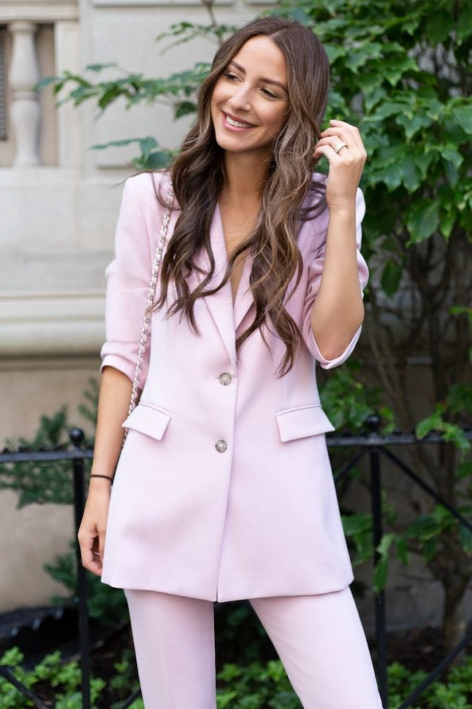 Something Navy Slouchy Narrow Lapel Blazer