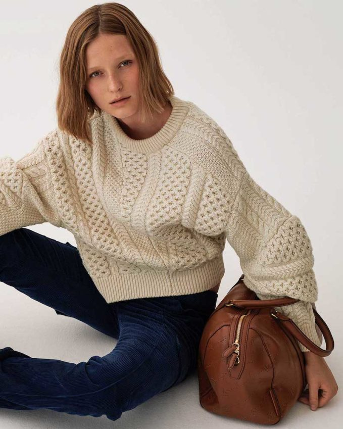 Stella McCartney Cable-Knit Wool-Blend Sweater
