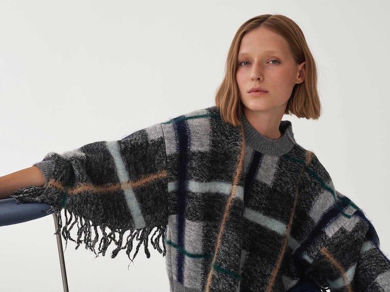 Stella McCartney Tassel-Trim Checked Wool-Blend Sweater