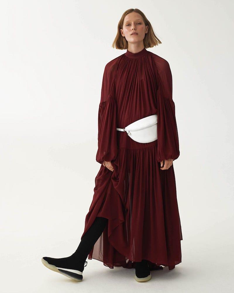 Stella McCartney Tiffany Gathered Silk Dress